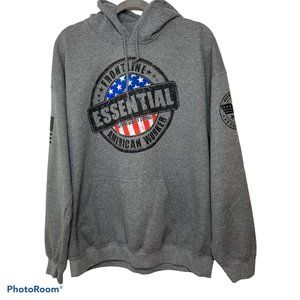 Gildan Gray Pullover Hoodie Sweater XL